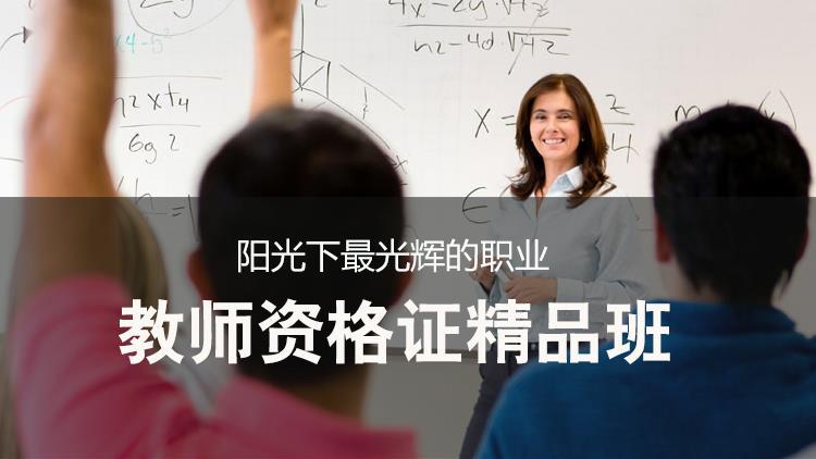 教师资格证(幼教,小学)【保过班】